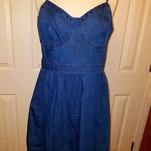 Dizzyliss chambray girls size L dress